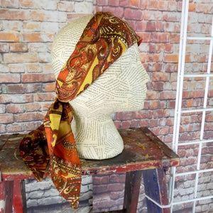 Vintage Paisley Bow Tie, Scarf, Hair Wrap, Bandana